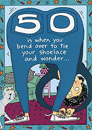 Amazon 50 Is When You Funny 50th Birthday Card Kitchen Dining