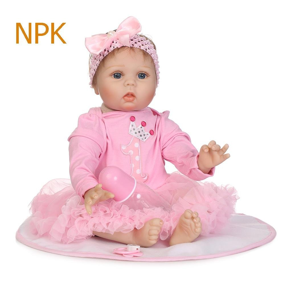 chinatera Kids Toy NPK Lovely Realistic Simulation Reborn Doll Soft Silicone Lifelike Artificial Kids Cloth Dolls by chinatera (Image #2)
