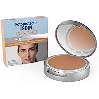 Fotoprotector ISDIN Compact SPF 50+ Bronce - Protector solar facial, Cobertura natural de larga duración, Apto para piel…