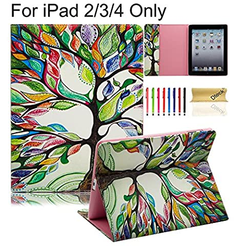 iPad Case, iPad 2/3/4 Case, Dteck(TM) PU Leather Folio Flip Stand Case with Card Slots/Cash Pocket Wallet Design Protective Shell Cases Portable Covers for Apple iPad 4,iPad 3 & iPad 2,Life (Ipad Air 2 Cover Printed)