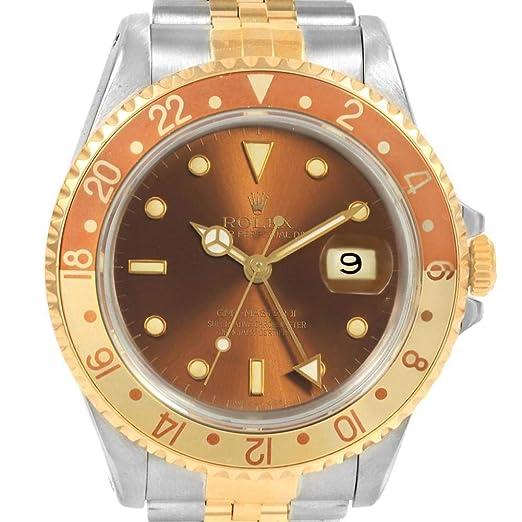 Rolex GMT Master II Automatic-Self-Wind Reloj para Hombre 16713 (Certificado prepropietario