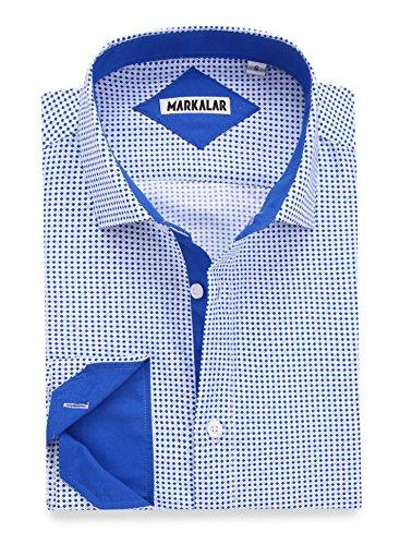 Mens Button Down Shirts Regular Fit Long Short Sleeve Casual Print Dress Shirt