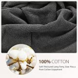 Homitt 100% Cotton 8 Piece Towel Set, Fade-Resistant and Anti-lint Washcloth Set with 2 Bath Towels, 2 Hand Towels and 4 Washcloths for Baby and Adult(Grey)