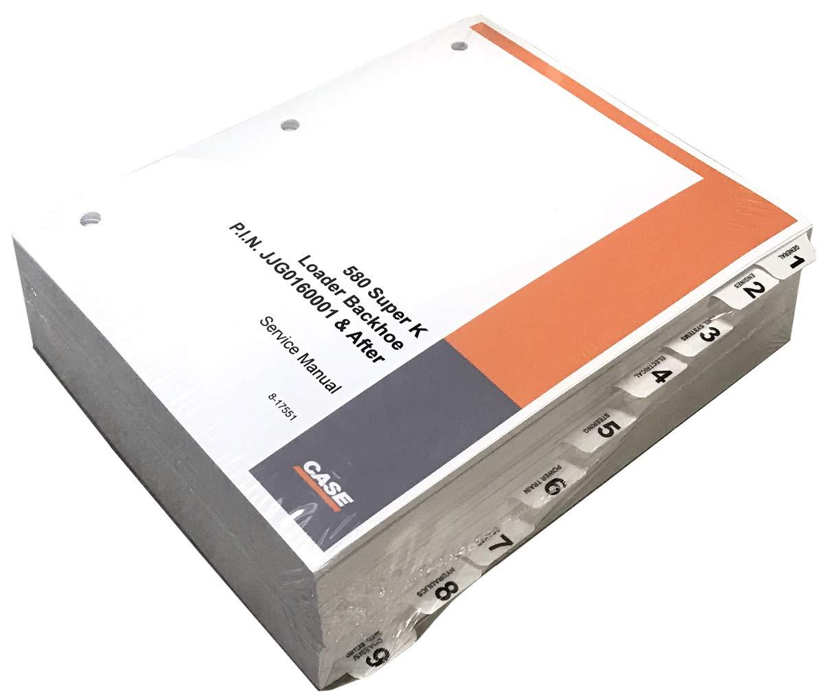 Case 580 Super K Loader Backhoe Workshop Repair Service Manual - Part Number # 8-16481 by Case (Image #1)