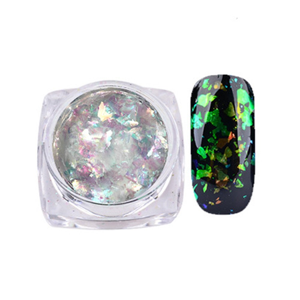 Hotsellhome Nail Art Gorgeous Chameleon Mirror Powder Manicure Chrome Pigment Glitters 0.2g DIY Makeup Pigment (F) Hotsellhome New Fashion