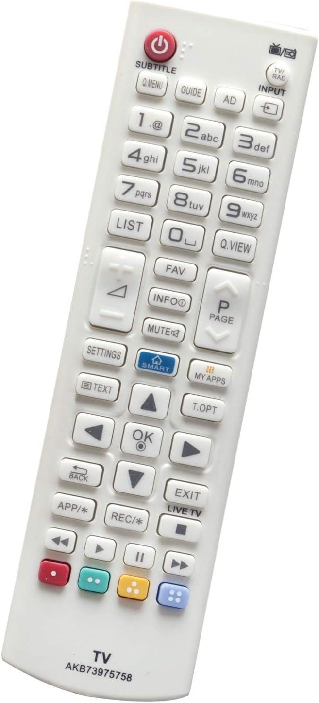 ALLIMITY AKB73975758 Mando a Distancia Reemplazar por LG LED LCD 3D Smart TV 28LB490B 28LB490U 32LB582U 32LB582V 32LF5800 32LF580V 40UB800V 42LB580V 42LB5820 42LB582V 47LB5820 47LB582V 50LB582V: Amazon.es: Electrónica