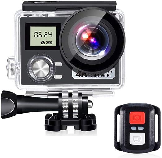 XRQ Cámara Deportiva Ultrafina 4K cámara Impermeable WiFi aérea DV ...
