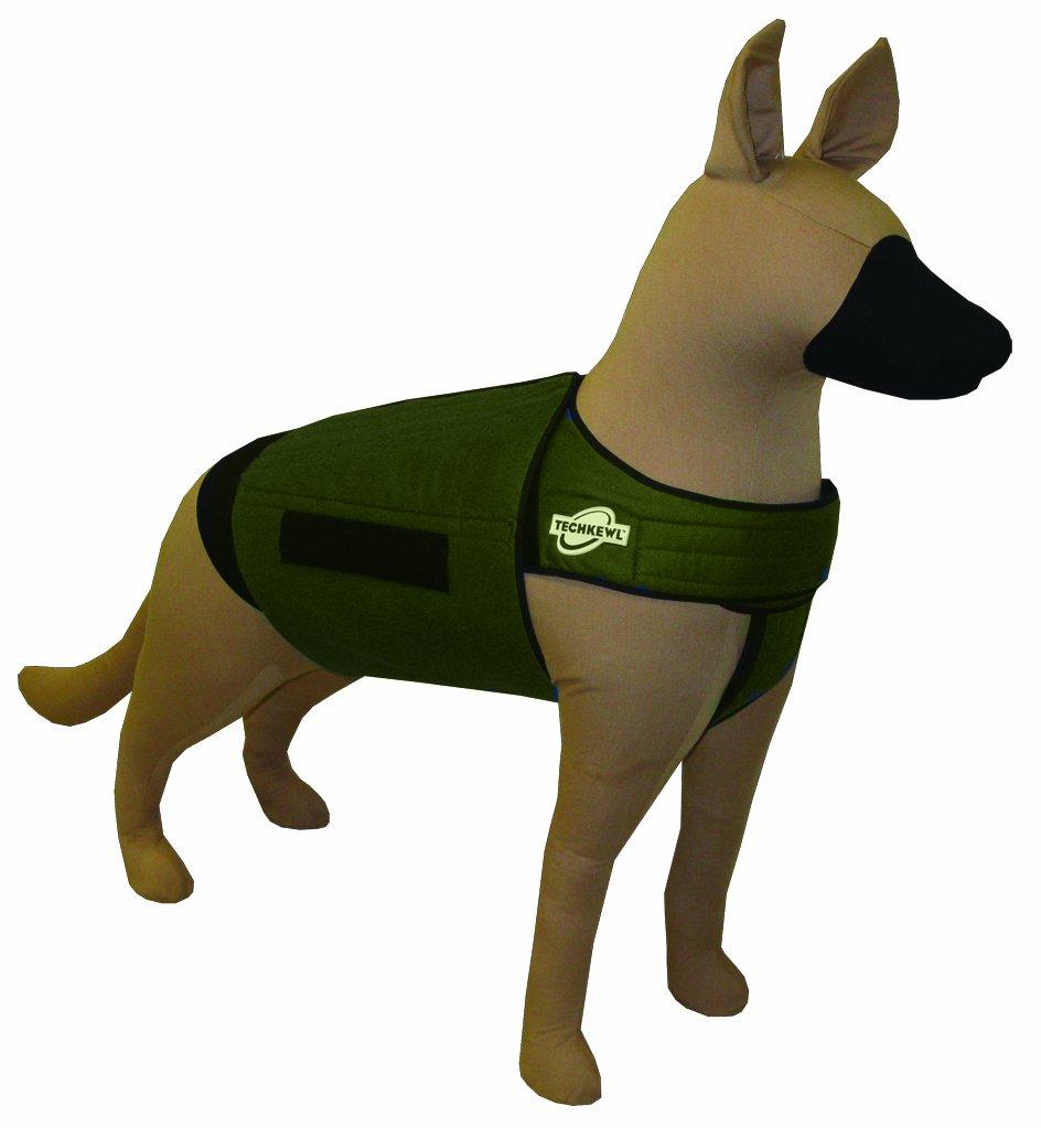 Khaki l Khaki l TechKewl Phase Change Cooling Dog Coat, Medium Large, Khaki