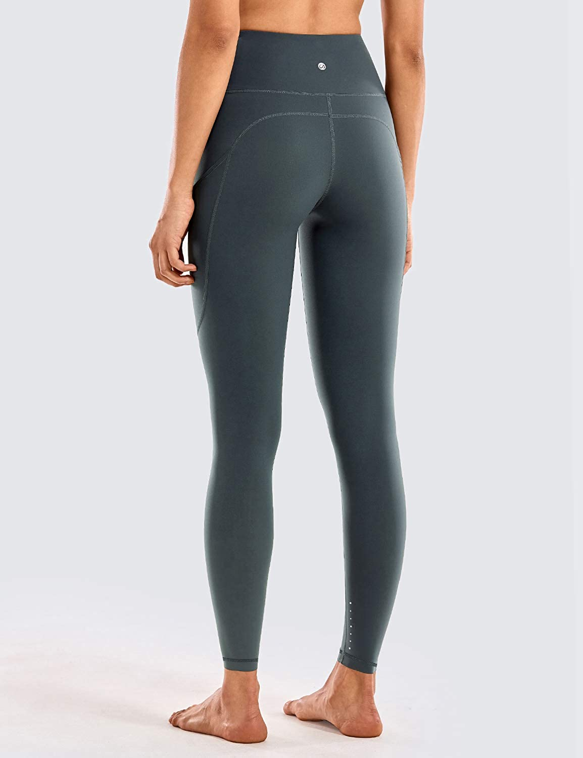 CRZ YOGA Womens Breathable Luxury Naked Feeling High Waisted Yoga Pants with Pockets Athletic Leggings-28 inches