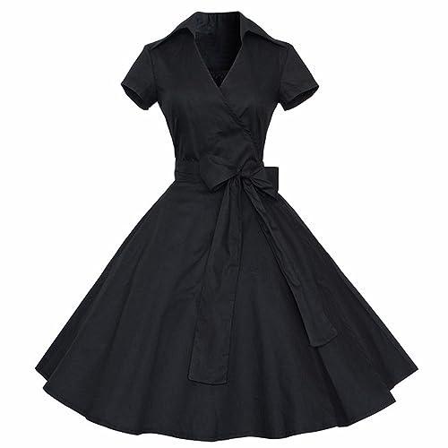 Shanxing -  Vestito  - Maniche corte  - Donna nero Large