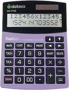 Datexx 2-Line TrackBack Business Large Desktop Calculator, DD-7722