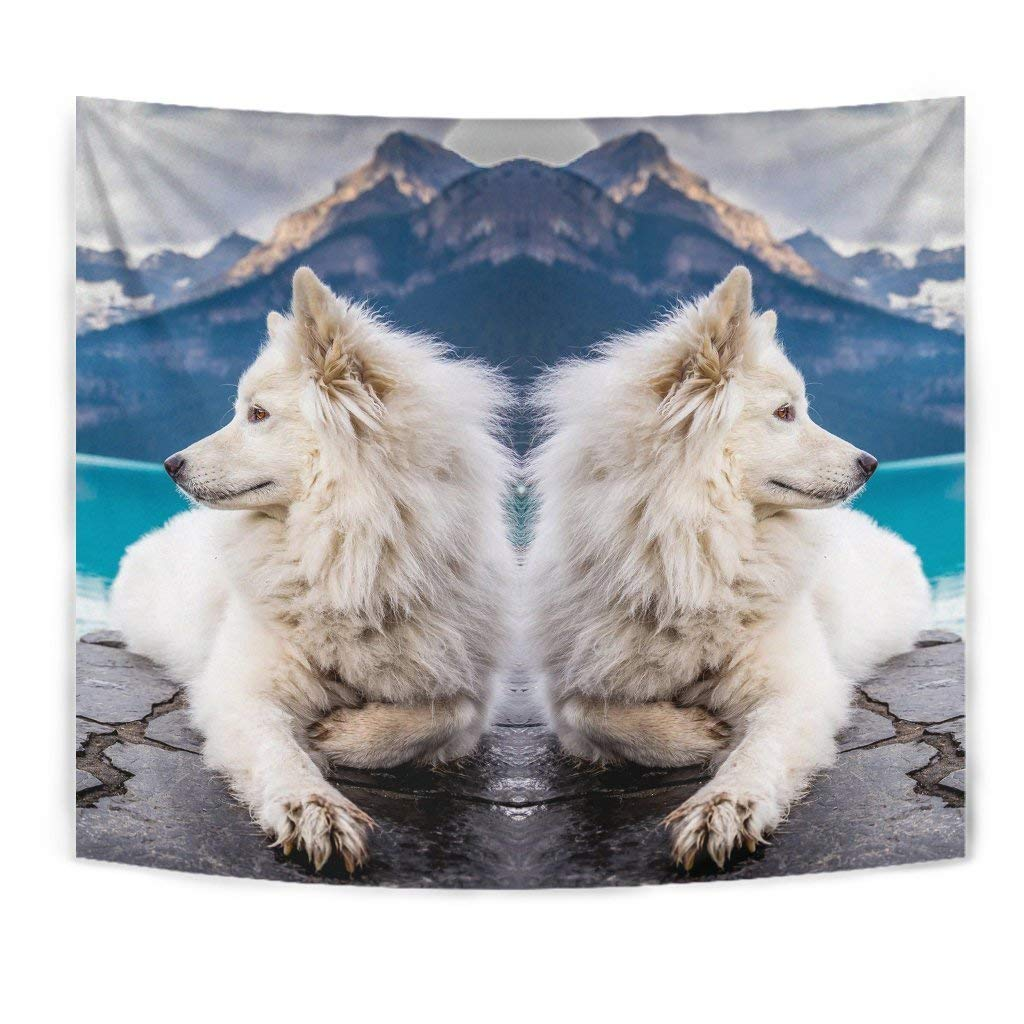 Pawfeel Amazing Samoyed Dog Print Tapestry by Simply Cool Trends