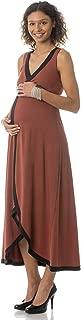 product image for Majamas Maternity Nursing Maxi Dream Dress - Picante(Rust) - Small