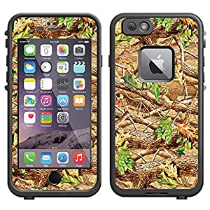 Skin Decal for LifeProof Apple iPhone 6 Case - Hunter Green Brown Sticks and Leaves