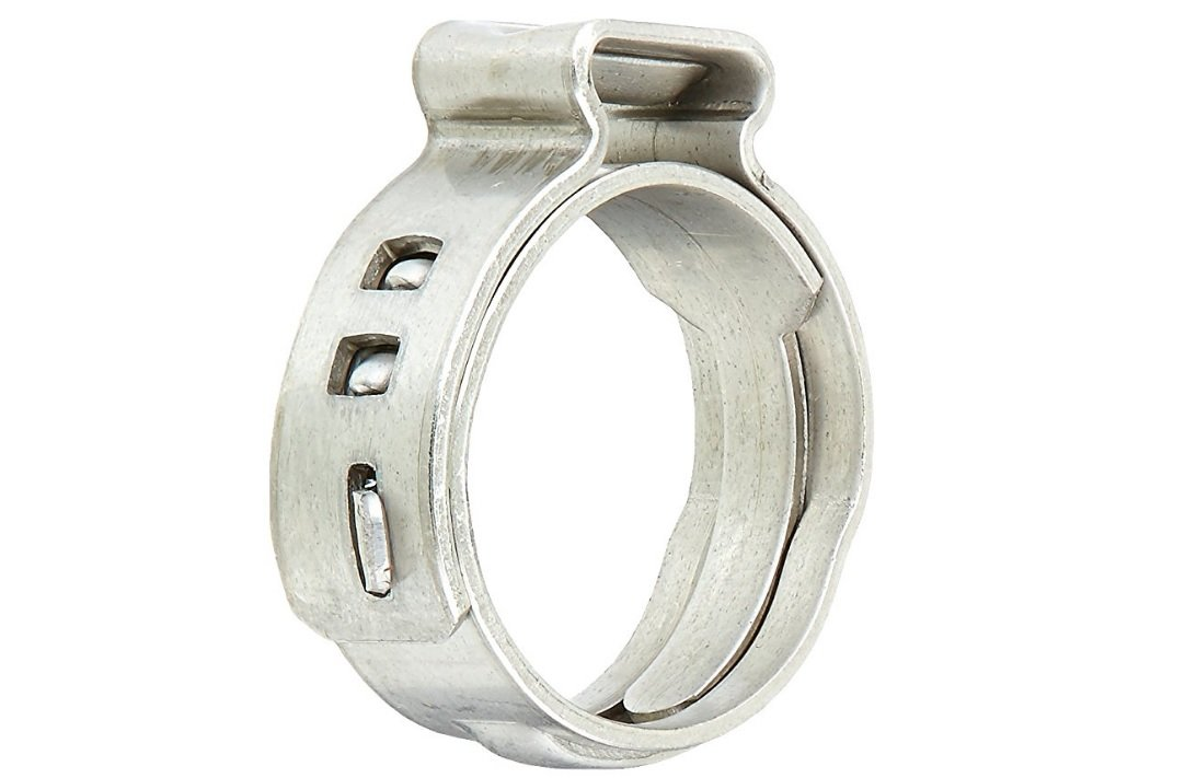 1/2-inch Stainless Steel PEX Cinch Clamp Rings For PEX Tubing Pipes, 100-pack