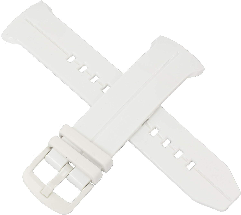Casio - Correa de reloj para BGS-100 BGS-100GS BGS 100 100GS (repuesto original), color blanco