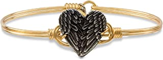 product image for Luca + Danni | Angel Wing Heart Bangle Bracelet For Women Made in USA