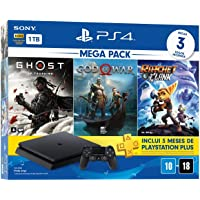 Console PlayStation 4 Mega Pack 18 - Ghost of Tsushima, God of War e Ratchet & Clank