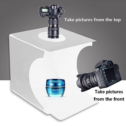 Mini Tragbares Fotostudio Schießzelt Aufnahmetische & Lichtwürfel Jhs-tech Kleine Faltbare Led Lichtbox Sof