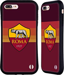 Head Case Designs Officially Licensed AS Roma Home 2020/21 Crest Kit Hybrid Case Compatible with Apple iPhone 7 Plus/iPhone 8 Plus