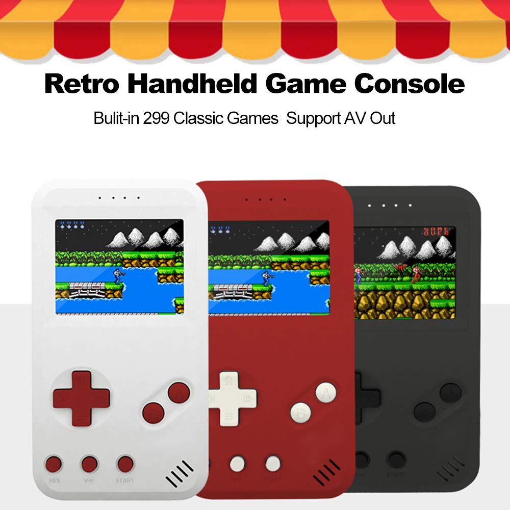 Leslaur JP01 Handheld Game Console Retro Gaming Machine Built-in 299 Classic Games AV Out with 2.5inch Screen Display by Leslaur (Image #3)