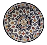 Moroccan Ceramic Plate Handmade Deep Serving Dinnerware 16 Inches Diameter Multicolored