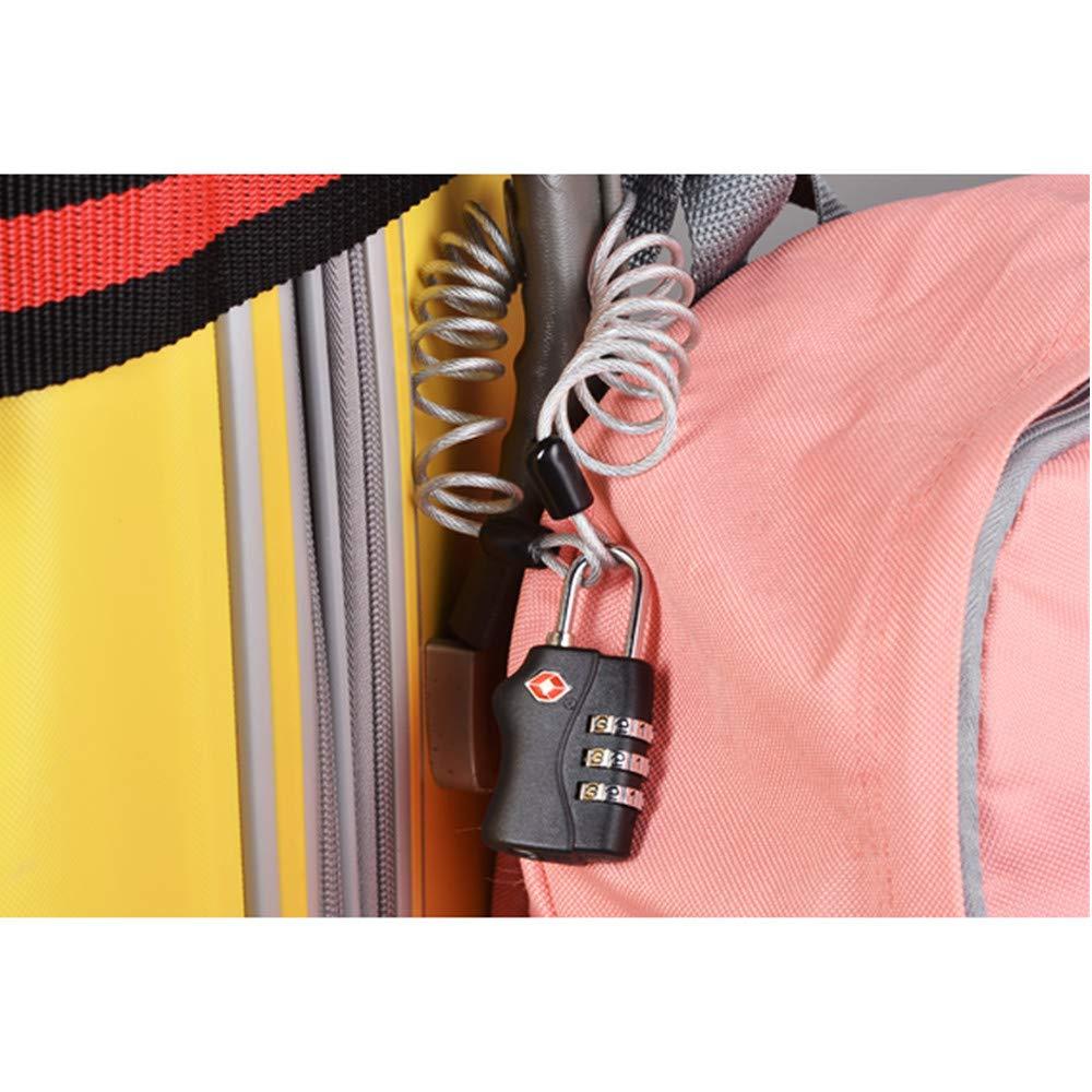 TRIXES 2 cadenas noirs certifi/és TSA /à combinaison 4 chiffres de voyage pour valises