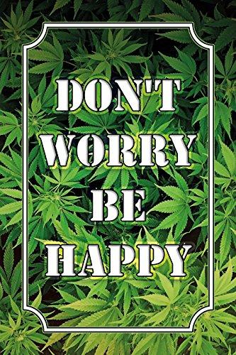 Cartel de Chapa 20 x 30 cm Cannabis Marihuana Haschisch Gras ...