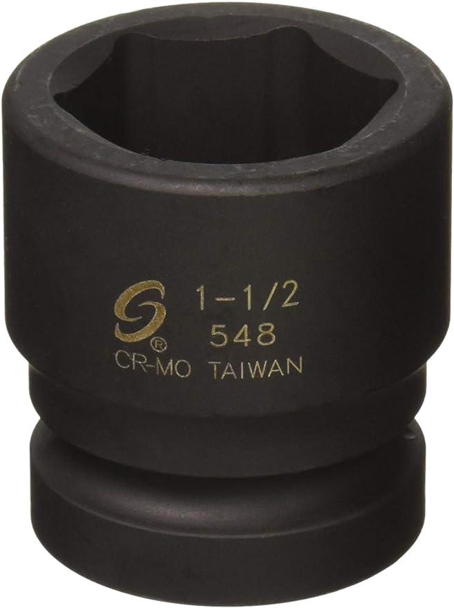Cr-V 6-Point TEKTON 14287 1//2-Inch Drive by 12 mm Shallow Socket