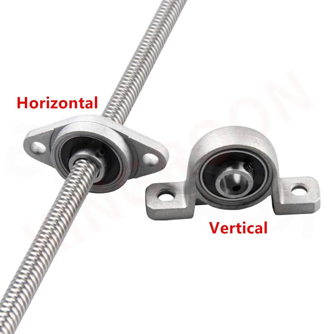 Horizontal /Écrou de cuivre Ensemble vis-m/ère T8 100mm 8mm Bloc de palier /à roulements pour imprimante 3D Coupleur 1 100mm