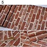 what is beadboard dezirZJjx Wall Decals Stickers,Retro 3D Effect Brick Stone Style Wall Paper Tile Print Wall Paper Home Decor - 5#