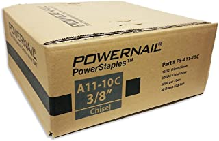 """product image for Powernail 20 Ga. Chisel Point Staples, 13/32"""" Crown, 3/8"""" leg, (1 Case of 20-5,000 ct boxes)"""