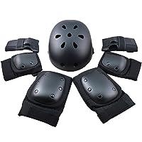 FUCNEN Juego de protectores de seguridad para deportes ajustables, coderas, muñecas, rodilleras y casco para niños…