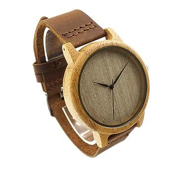 Taonology Famosa marca alta calidad Retro de madera del Reloj hombres mujeres Reloj del cuarzo Casual