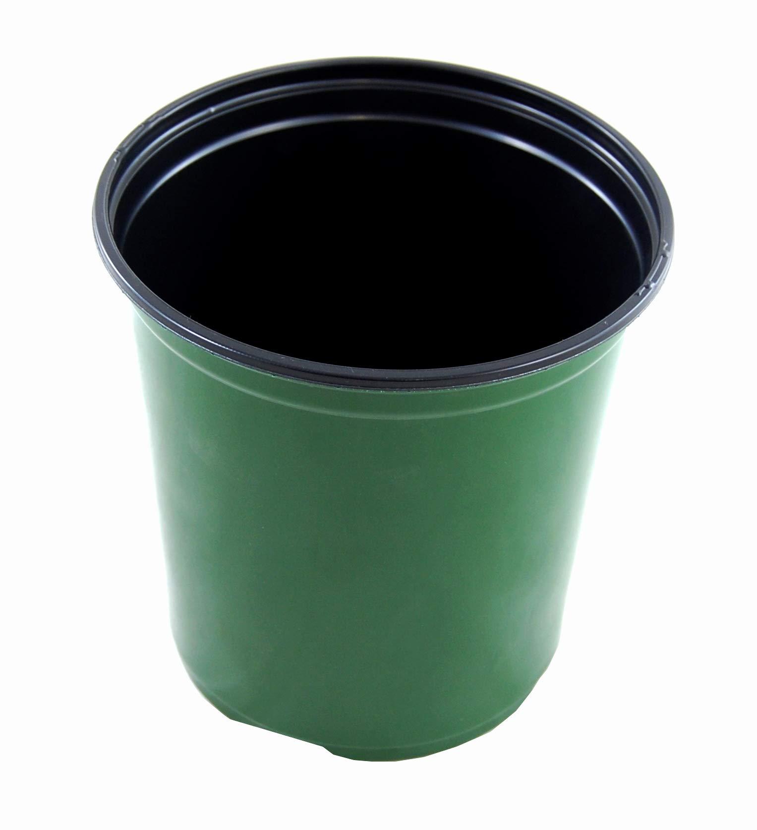 Plastic Nursery 1 Gallon - Plant Flower Pot - Green - 270 Pots By Growers Solution