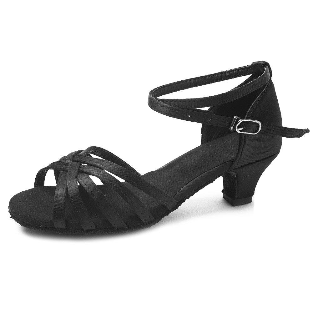 HIPPOSEUS Salle de Bal Chaussures de Danse/Standard Chuaussures de Danse Latines en Satin pour Femmes & Filles, Maquette FR213