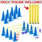 AKA Sports Gear Hurdle-Cones & Poles Set(4