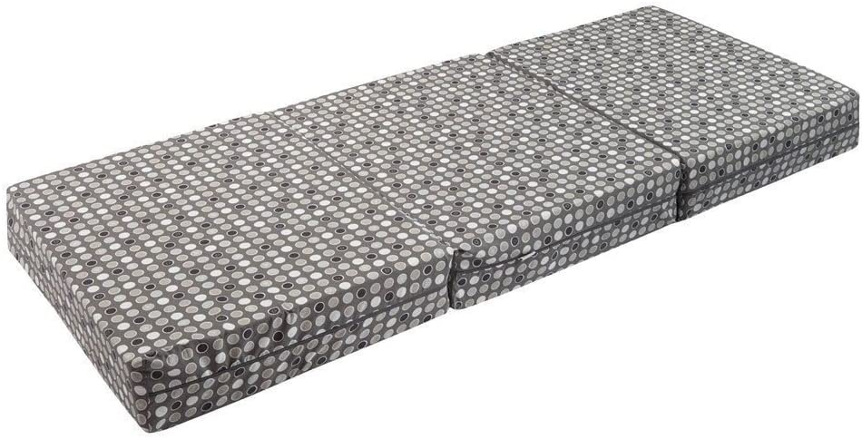 Joyfill deluxe folding mattress, 180 cm x 70 cm x 15 cm, made in Germany 535 Grey Dots