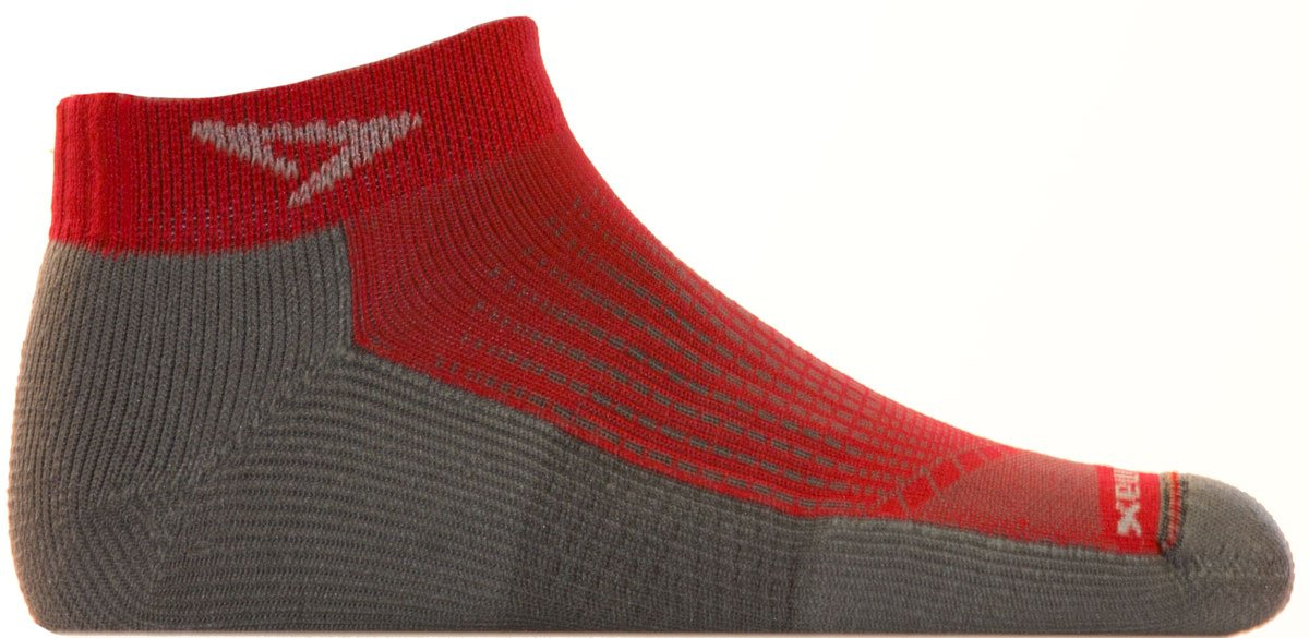 Drymax Run Mini Crew Socks Torrid Red / Anthracite M by Drymax