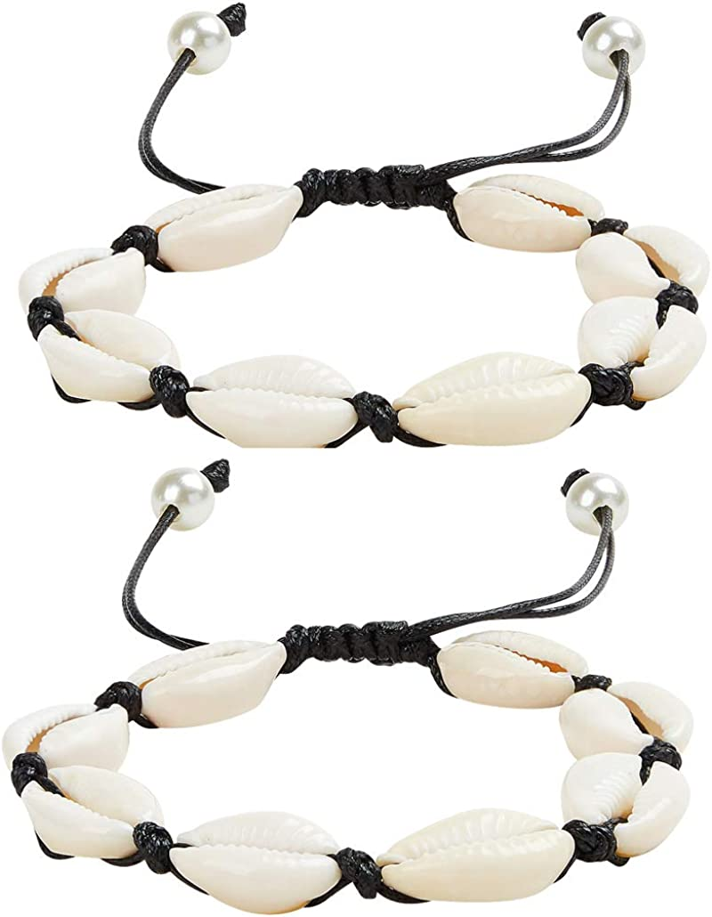 Simple Leather Cord Ankle Bracelet with Real Pearl Leather Anklets for Women for Teen VSCO Girl Boho Beach Jewelry