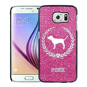 Victoria's Secret Love Pink 08 Black Fantastic Unique Cusstomized Samsung Galaxy S6 Case
