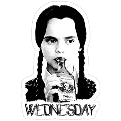 BreathNenStore Wednesday Addams | The Addams Family The Addams Family Stickers (3 Pcs/Pack) 2805623258417: Home & Kitchen