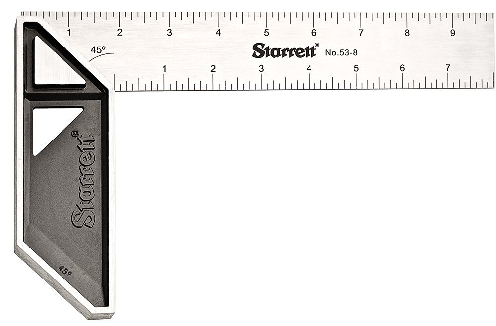 Starrett K53-8-N Stainless Steel Carpenters Try Square, 8'' Length