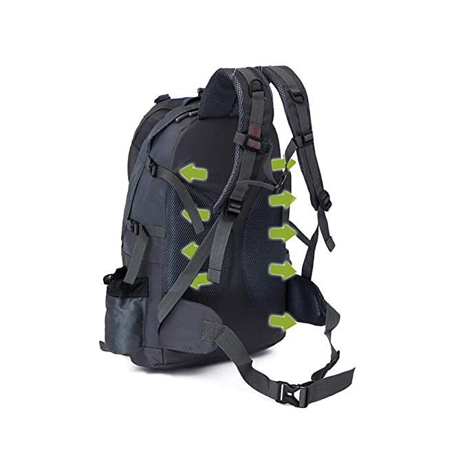 Color : Red Travel Hiking Light Waterproof Backpack 60L Latest Models Haoyushangmao Outdoor Mountaineering Large-Capacity Backpack