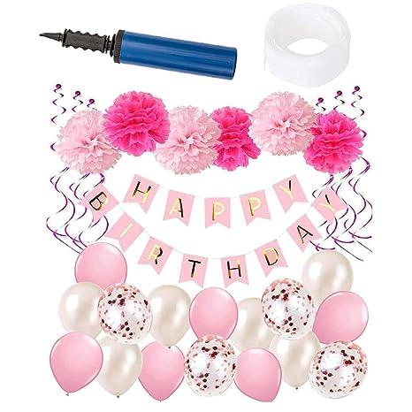 Decoraciones de cumpleaños, Decoraciones de pancartas de ...