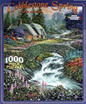 Cobblestone Spring by D. R. Laird 1000 Piece Puzzle by White Mountain Puzzles