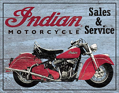 - Desperate Enterprises Indian Motorcycle Parts & Service Tin Sign, 16