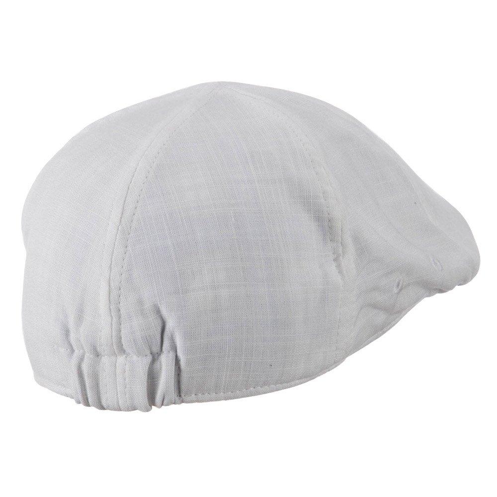 White W11S58C Plain Duck Bill Ivy Hat