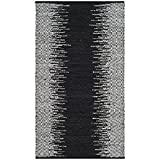Safavieh Vintage Leather Collection VTL389C Light Grey and Black Area Rug, 3′ x 5′ Review