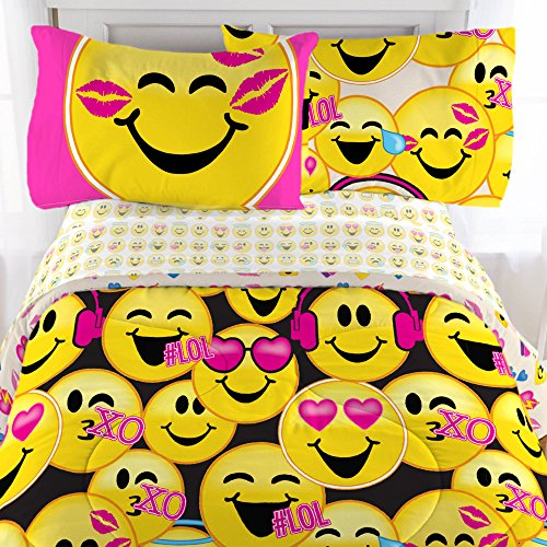 Emoji Microfiber Sheet Set with Pillowcase - Twin